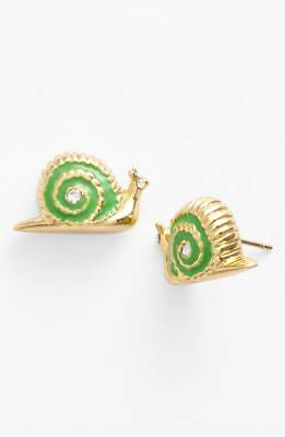 $ CDN38.12 • Buy Kate Spade Lawn Party Snail Green Stud Earrings~Real Cute~