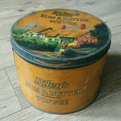Large Vintage Sweet Tin, Rileys Rum & Butter Flavoured Toffee • 30£