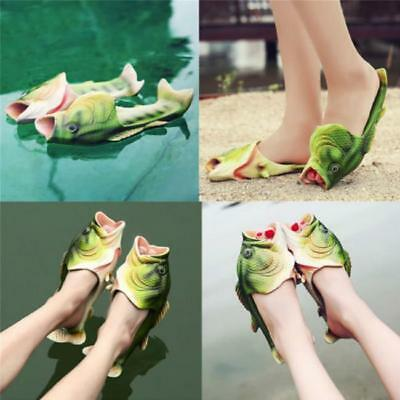 $ CDN11.60 • Buy Funny Unisex Simulation Fish Pattern Slippers Shower Beach Chic Shoes Sandals MA