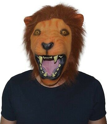 Latex Lion Head Masks Animal Full Face Masquerade Party Halloween Mask Props AP • 18.51£
