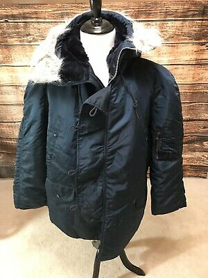 $ CDN199.39 • Buy Extreme Cold Weather Parka N3B USA Made By Alpha Ind Vintage New Large Navy Blue