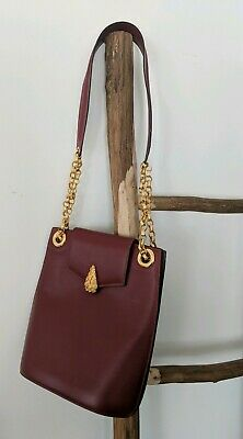 Authentic Didier Lamarthe Leather Bucket Bag Tote Chain Gold Shoulder Over • 57.21£