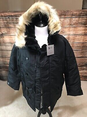 $ CDN199.39 • Buy Extreme Cold Weather N3B Vintage Parka By Valley Apparel USA Made Black Medium