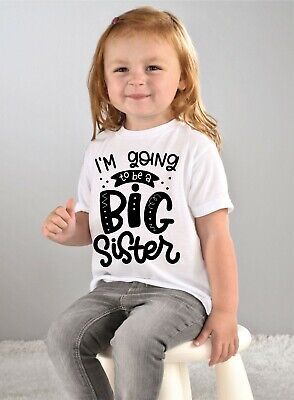 I'm Going To Be A Big Brother Or Big Sister Kids Boys Girls T Shirt Tee • 4.25£