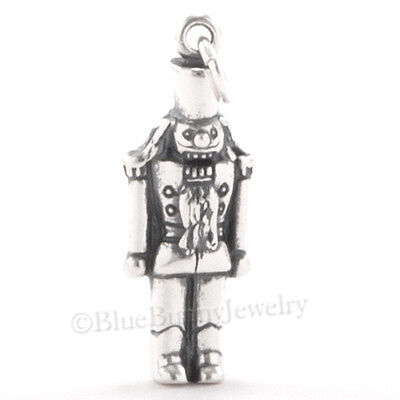 3D NUTCRACKER CHRISTMAS BALLET Dance Charm Pendant TOY SOLDIER STERLING SILVER • 9.34£