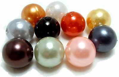 $5.75 • Buy 8mm Plastic Round Beads 2 Cups, Loose, Approx 1188 Beads