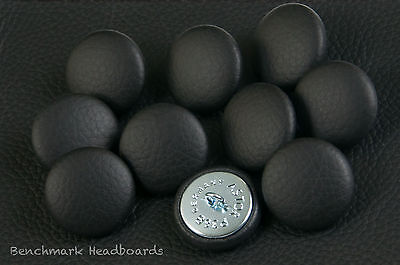 £9.99 • Buy 20 Upholstery Buttons Black Real Scottish Leather 25mm Wide