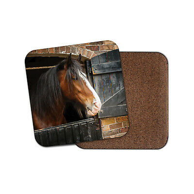 Shire Horse Coaster - Beautiful Animal Nature Men's Cool Pony Pets Gift #12685 • 3.49£