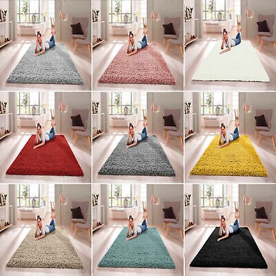 SHAGGY RUG 30mm HIGH PILE SMALL EXTRA LARGE THICK SOFT LIVING ROOM FLOOR BEDROOM • 20.99£