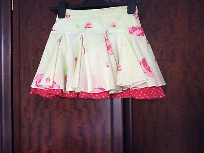 Girls Floral & Polka Dot Skirt By Pumpkin Patch Age 7yrs • 4£