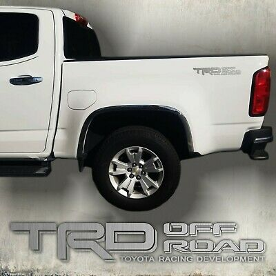 $25.99 • Buy TRD 4X4 Off Road, Brushed Chrome Decal Sticker Cut Design (set)