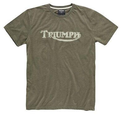 £21.99 • Buy Triumph Vintage Logo T-Shirt - Khaki - # Genuine Triumph Clothing