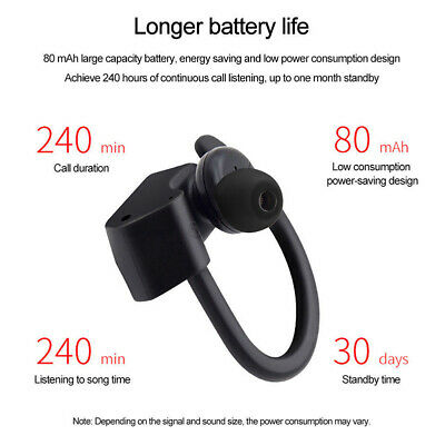 $7.72 • Buy True Wireless Sport Headphones Bluetooth Earphones Twins Ear Hook Bass Headset D
