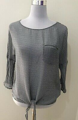 AU29 • Buy Ladies MASSIMO DUTTI Mulberry Silk Sheer Fromt Tye Top. Size 6 US