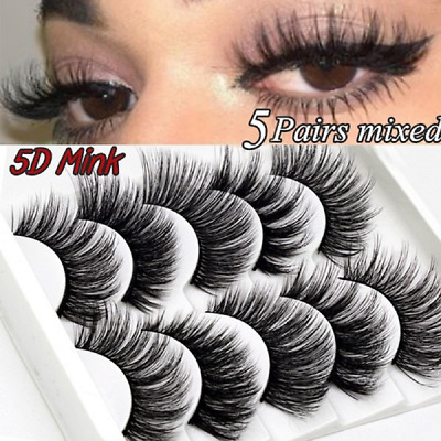 AU2.29 • Buy 10Pairs 3D Mink Handmade Fake Eyelashes Natural Long Wispy Makeup False Lashes