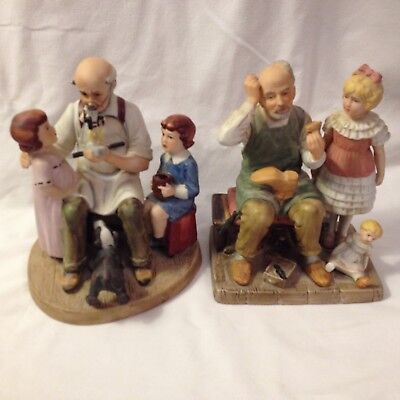 $ CDN24.66 • Buy (2) Norman Rockwell Collectors Club The Shoemaker And Toy Maker Figurines