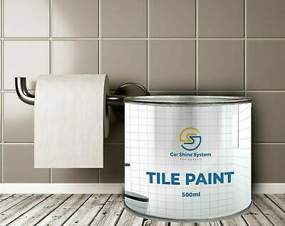 One Coat Tile Paint 500ml Gloss Satin Kitchens Bathrooms  All Colours  • 16.99£