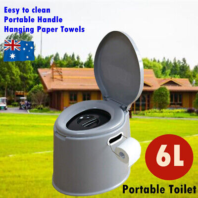 AU34.99 • Buy 6L Outdoor Portable Toilet Camping Potty Caravan Travel Camp Boating Tent Hiking