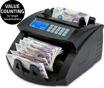 £149.99 • Buy Note Counter Machine Money Currency Banknote Counting Detector Cash Bill ZZap