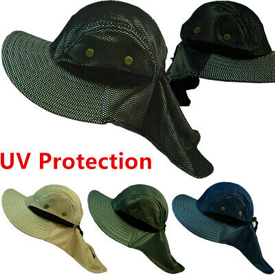 $9.99 • Buy Men's Outdoor Sun Protection UV-proof Windproof Fishing Boonie Cap Headgear Hat