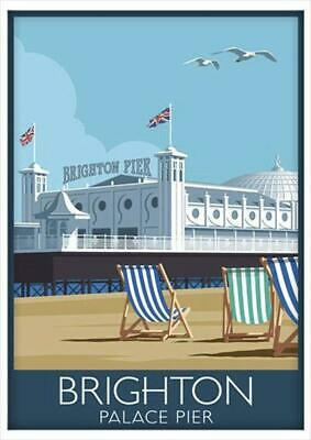 £2.99 • Buy A3 A4 Size - Brighton Pier Old Vintage Travel Railway Poster