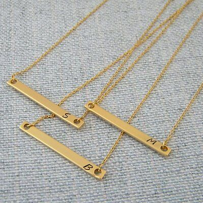 AU22.95 • Buy Gold Bar Necklace With Initial