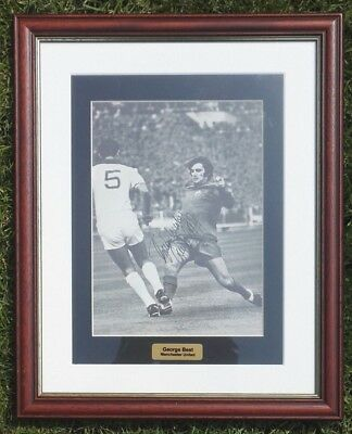 George Best 1968 European Cup Manchester United Signed Picture Framed Football • 200£