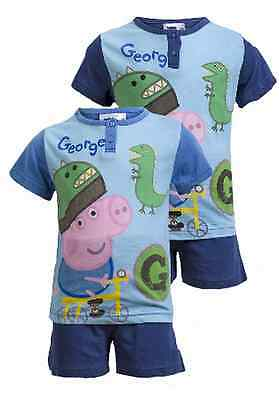 George Pig:navy Or  Blue Short Pyjama,boxed/unboxed,2,3,4,5,6yr,new With Tags • 5.99£