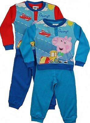 George Pig:red/navy Or Blue Long Pyjama,boxed/unboxed,2,3,4,5,6yr,new With Tags • 6.95£