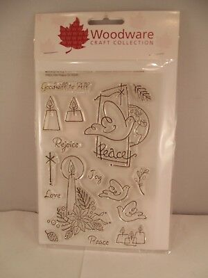 Woodware Craft Collection Rubber Clear Stamps Various Choose Your Theme • 2.99£