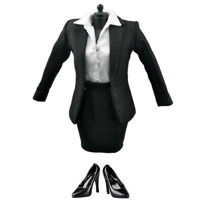 $36.63 • Buy 1/6 Scale Black Formal Skirt Suit & Shoes For 12''   Enterbay Female