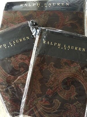 Ralph LAUREN ANMER HALL WALCOTT PAISLEY SATIN Duvet Cover Set DOUBLE LUXURY • 299.99£