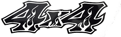 $12 • Buy 4x4 Flames Sticker Decal 3.5 X 11  (2) Truck  Chevy,Dodge,toyota,ford,