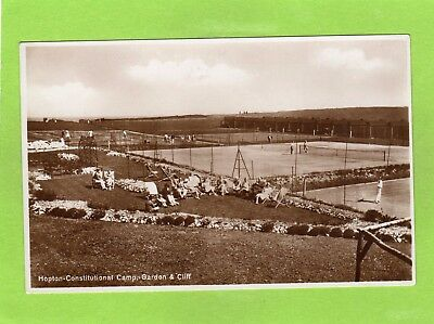 Hopton On Sea Constitutional Camp Tennis Great Yarmouth RP Pc Unused  Ref E911 • 9£