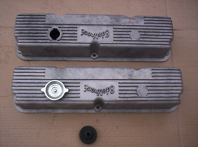 $1199.95 • Buy Ford Mercury 390 427 428 Edelbrock #103r-56 Alum Valve Covers Holman Moody