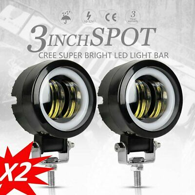 AU29.99 • Buy 2X 40W 3inch Spot Round LED Work Light Offroad Fog Driving DRL SUV ATV Truck 4WD