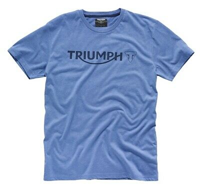 Triumph Blue Logo T-Shirt - # Genuine Triumph Clothing • 15£