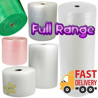 £8.25 • Buy SMALL AND LARGE BUBBLE WRAP 300mm 500mm 600mm 750mm 1000mm 1500mm X 10m 50m 100m