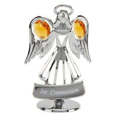 1st Frist Holy Communion Gift Guardian Silverplated Angel Girls & Boys Present • 90.99£