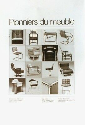 AU116.25 • Buy Original Vintage Poster PIONIEERS OF FURNITURE DESIGN EXPO 1983