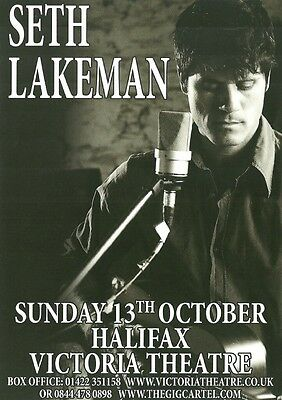 £2.59 • Buy Seth Lakeman Double-sided A5 Concert Flyer For Halifax Victoria Theatre Show