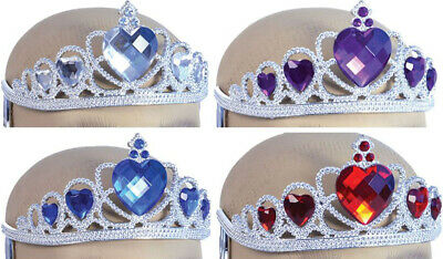 £6.49 • Buy Adult Fancy Club Party Accessory Silver Plastic Stone Attached Princess Tiara UK