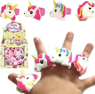 £3.75 • Buy Toy Unicorn Rings Girls Cute Wedding Favor Princesses Birthday Party Bag Fillers
