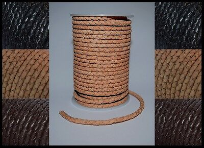 £3.99 • Buy 3mm 4mm 5mm BRAIDED BOLO 100% REAL LEATHER CORD HIGH QUALITY ANTIQUE LACE STRING