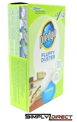 Pledge Fluffy Dusters Starter Kit Dry Dusting Cleaning Cloth Pack (2 Refills)  • 7.95£