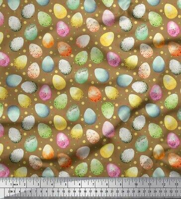 Soimoi Fabric Egg Easter Printed Craft Fabric By The Meter-ES-509C • 7.60£