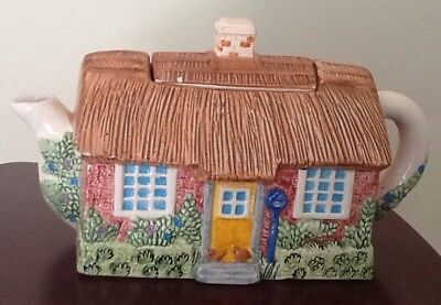 £7 • Buy Thatched Cottage Ceramic Teapot