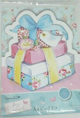 Docrafts Papermania Lucy Cromwell A4 Card Kit Girl Presents Pink Happy Birthday • 5.45£