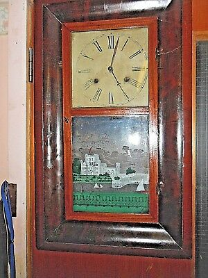 American Wall Clock  - Jerome & Co. Newhaven Conn. • 105£