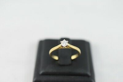 AU1050 • Buy Ring Ladies 18ct Yellow Gold Solitaire Diamond Engagement Dress Ring